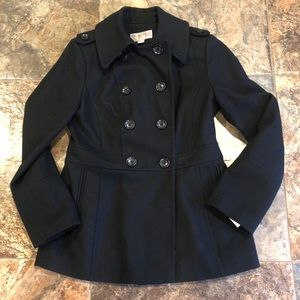 Michael Kors Black Double Breasted Peacoat! Small